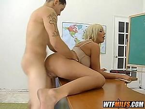 Hot blonde MILF teacher fuck fantasy 5