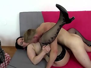 Busty and booty mom fucks not her son -..