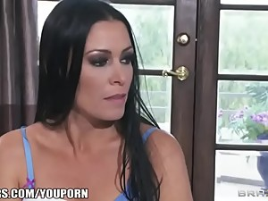 HOT MILF teases her son s friend with..