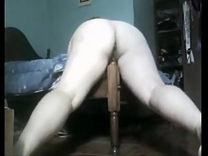 Fat Mom fucks foot of the bed. More..
