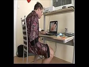 masturbandose y hombre desconocido