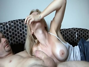 Stepmom swallows cum - Stop jacking off...
