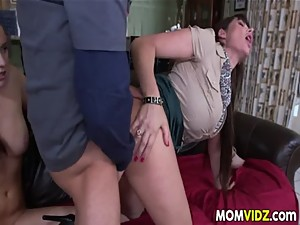 Stepmom Eva Karera catches Holly Hudson..
