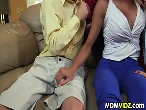 Mom Soffie seduces her stepdaughter Jade..