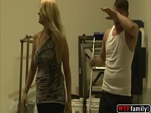 Blonde stepmom Robbye Bentley gets horny..
