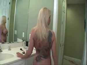 Horny cougar fucked by her stepson..