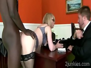 Gorgeous blonde cougar gets smashed by..