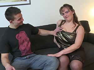 Young son fucks sexy mature busty not..