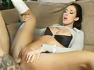 hot stepmom Kimberly Kole helps out his..