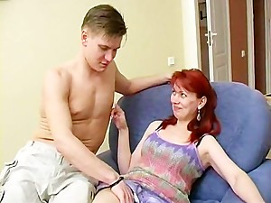 Russian Mom fucking with boy