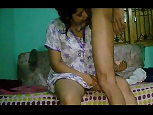 indian aunty suck my cock and fucked..